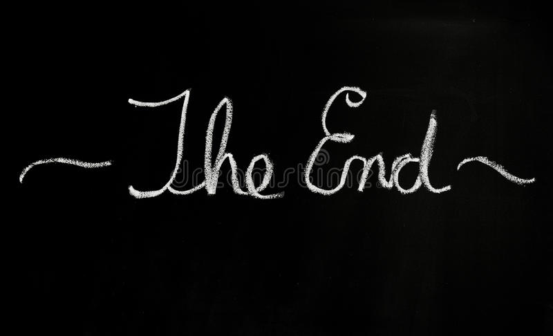 Download The end stock photo. Image of done, white, words, last - 23179588