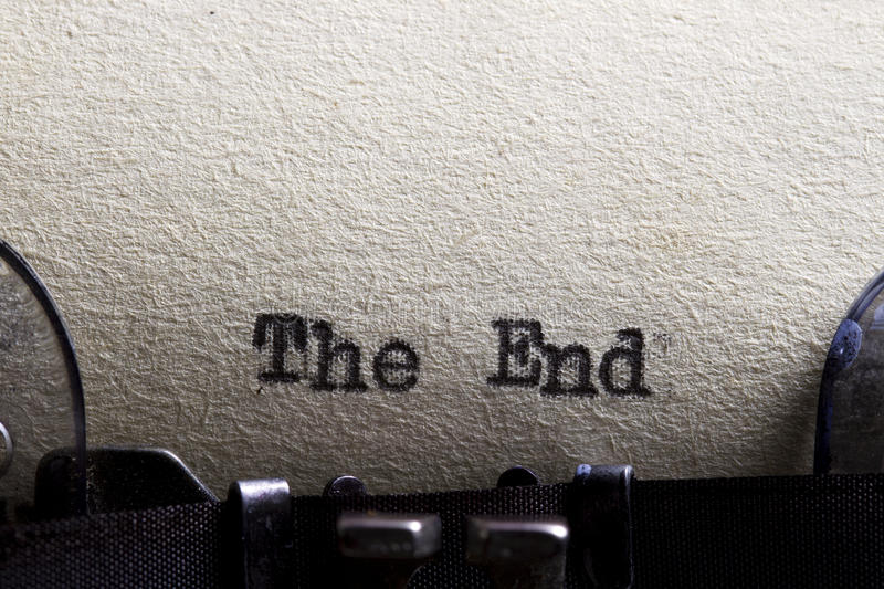 The end royalty free stock images