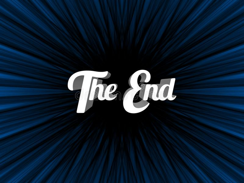 The End stock illustration