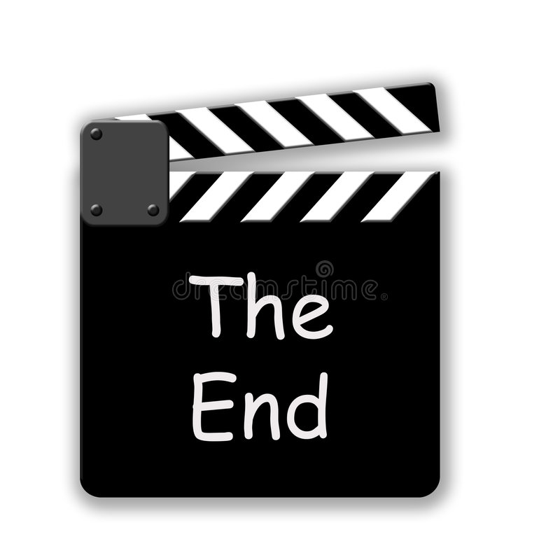 The End vector illustration
