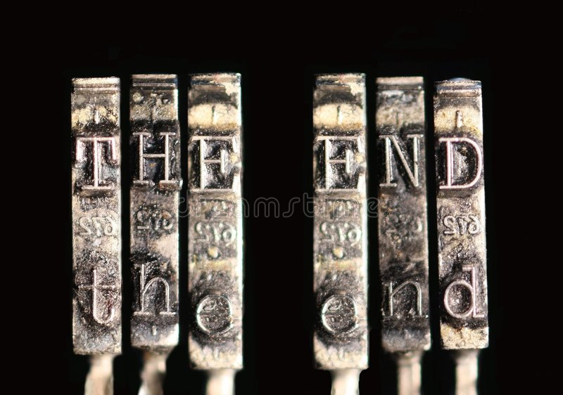 Download The End stock image. Image of alphabet, typeset, final - 5938071
