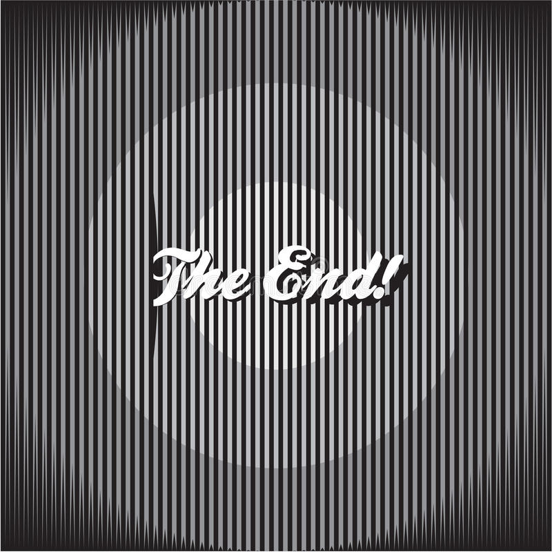 The End background royalty free illustration