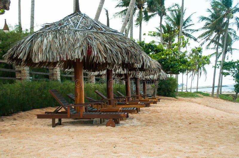 End of beach season landscape. The beginning of the rainy season landscape royalty free stock photography