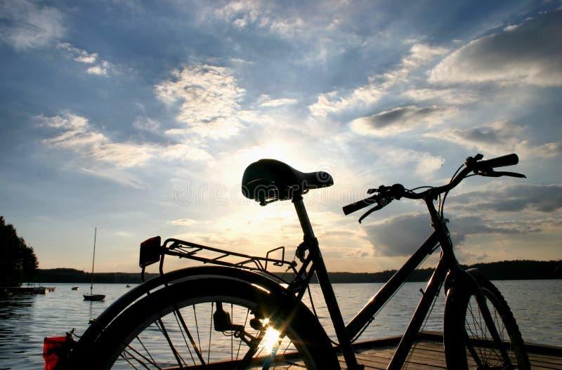 End of a bike trip #2 royalty free stock photos