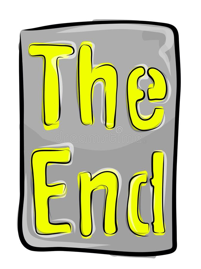 the end stock illustration illustration of capital illustration rh dreamstime com the end sign clipart the end clip art book