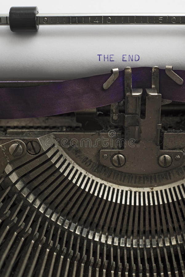 Download The End stock image. Image of old, capital, paper, fashioned - 37934485