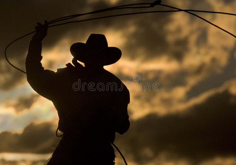Download End of the Day stock photo. Image of people, cowboy, rope - 460104