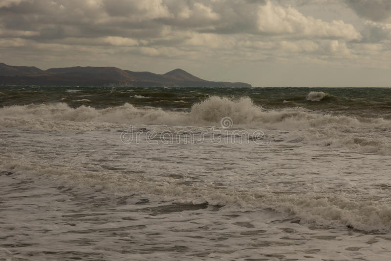End of gale. Closing stormy date at the Black sea royalty free stock photography