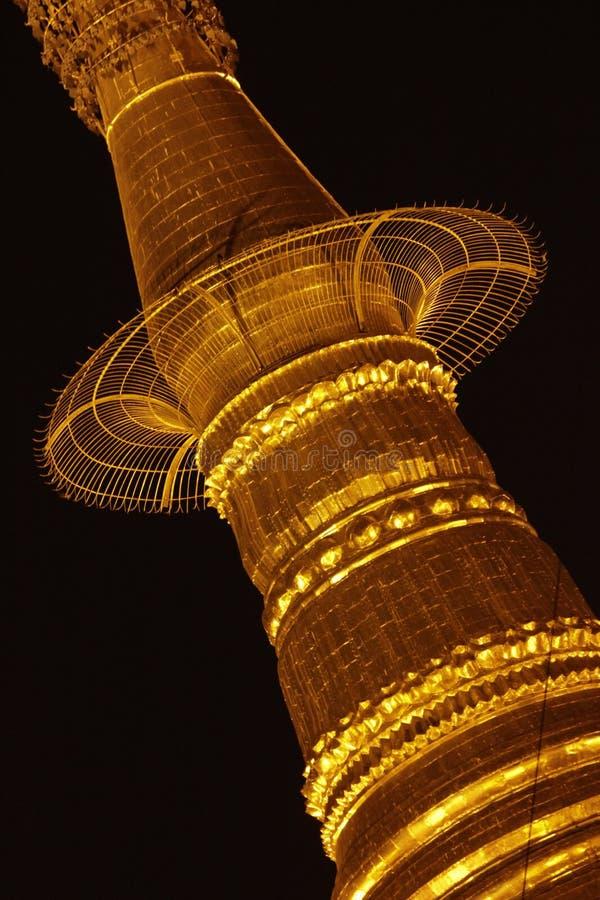 The big gold pagoda in Myanmar. stock photos
