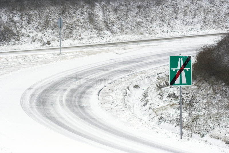 The end of a highway stock photography
