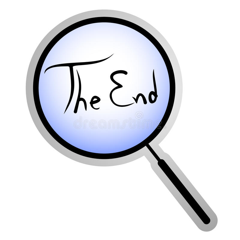 The end icon stock vector. Image of illustration ...