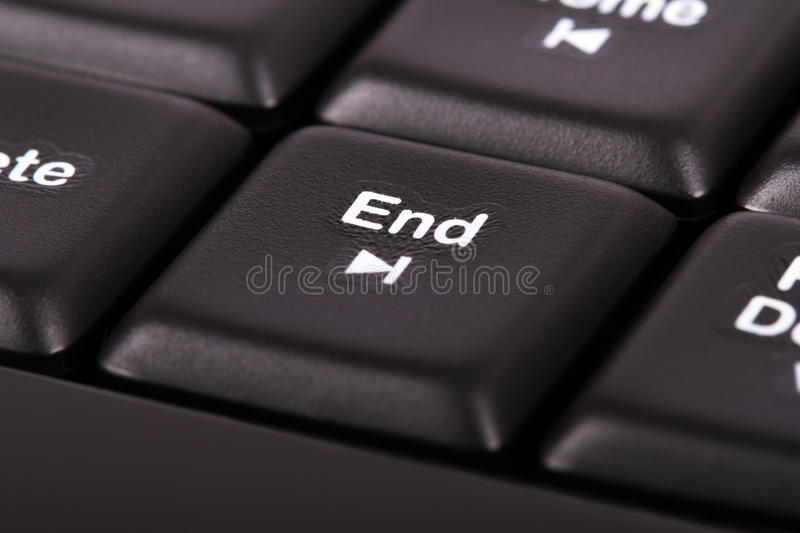 End Key. On computer keyboard royalty free stock photography