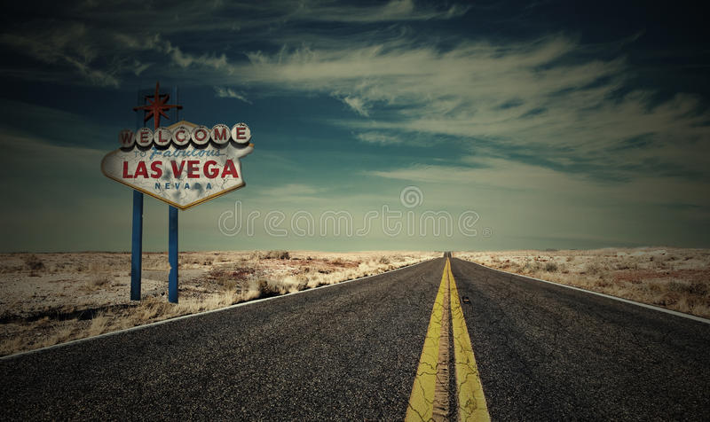 End of Las Vegas royalty free stock photography
