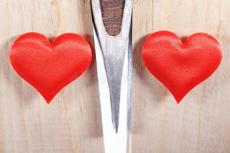 The end of love, Unhappy love, divorce, crisis relationship, metaphor stock images