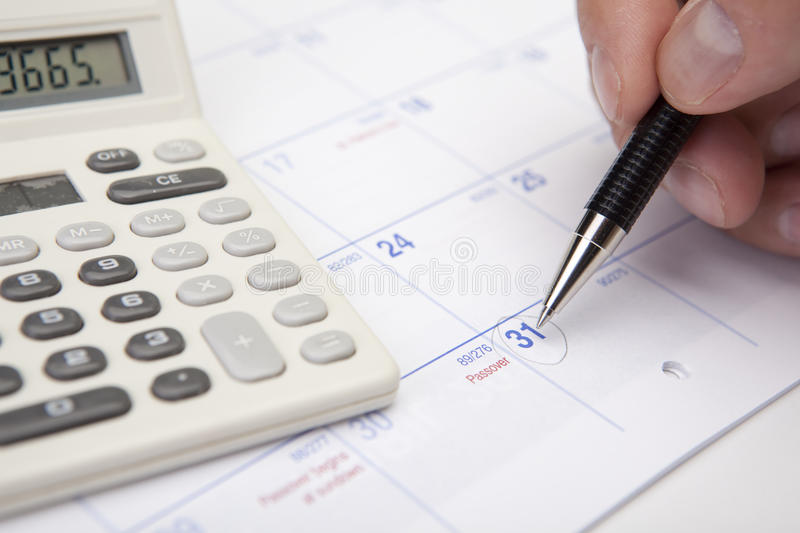 End Of The Month Financial Planning Royalty Free Stock Image