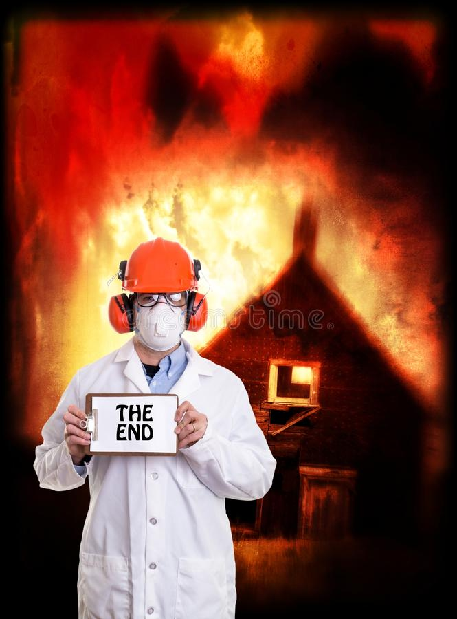 This is the end my friend royalty free stock photo