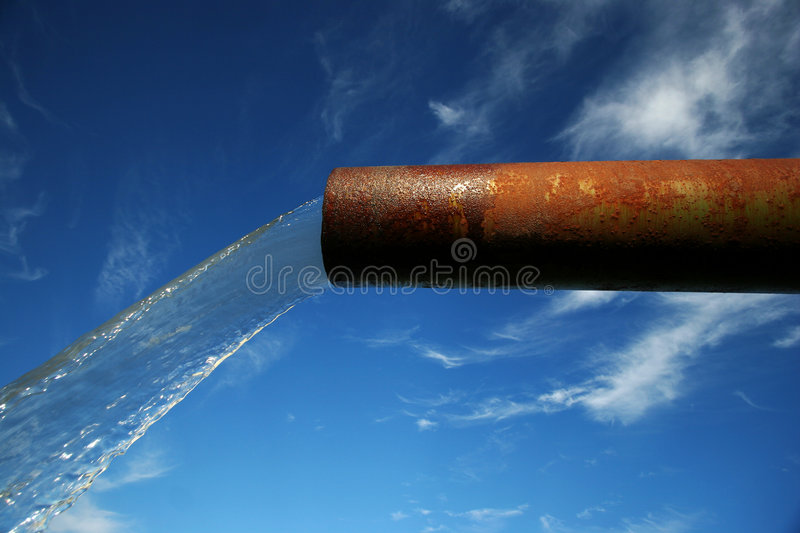 End of the pipeline stock photography