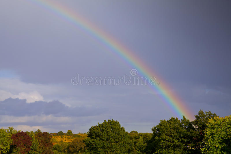 End of the rainbow stock images