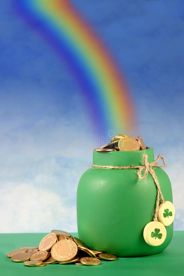 End of the Rainbow stock photography