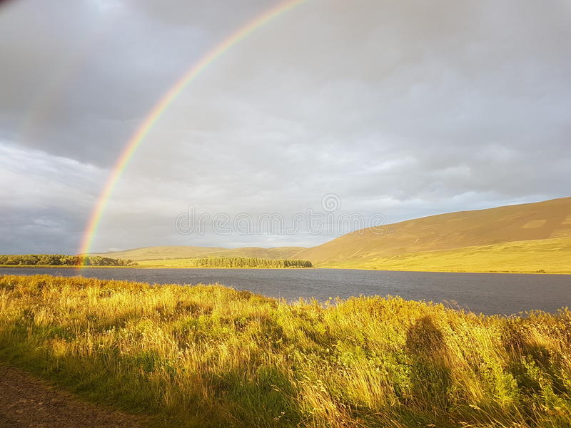 End of a rainbow royalty free stock photos
