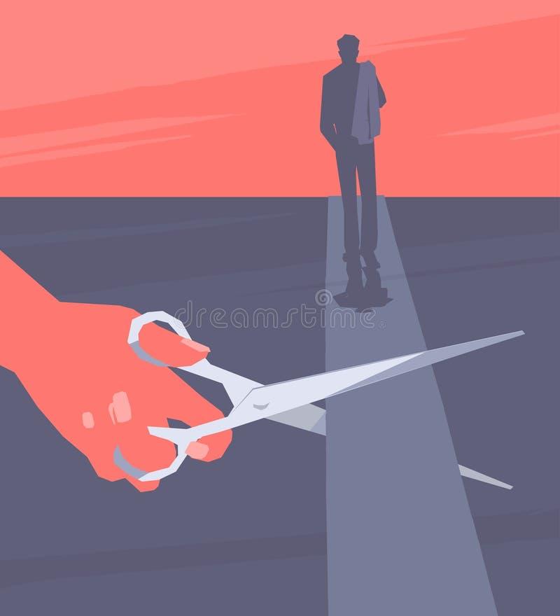 End of relationship. vector illustration