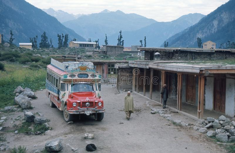 1975. Pakistan. End of the road. stock images