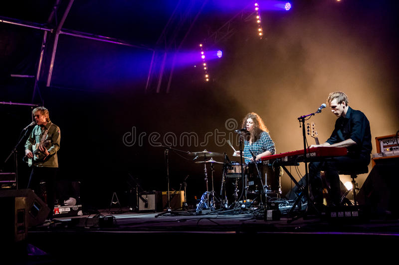 End Of The Road Festival 2015 - Low. End of the Road Festival is an annual music festival in England which focuses on alternative music, mostly folk, alt.country stock images