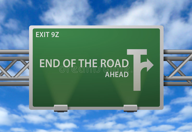 End of the road sign vector illustration