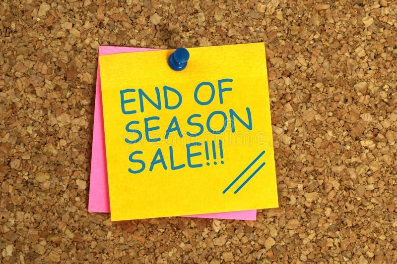 End of season sale sticky royalty free illustration