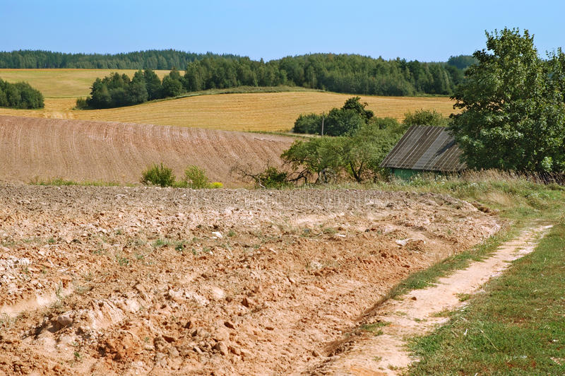 End of summer agricultural royalty free stock photos