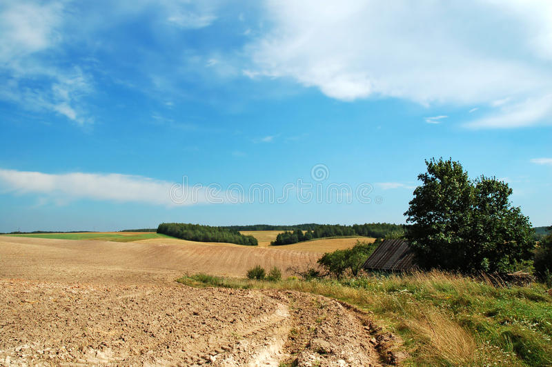 End of summer agricultural stock images