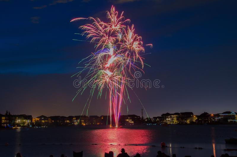 End of Summer Fireworks stock image