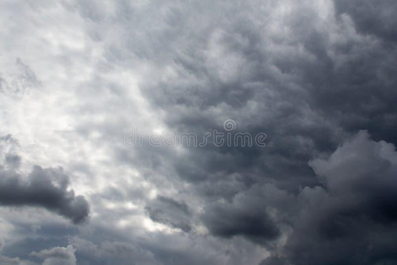 Stormy sky before the rain. texture stock photo