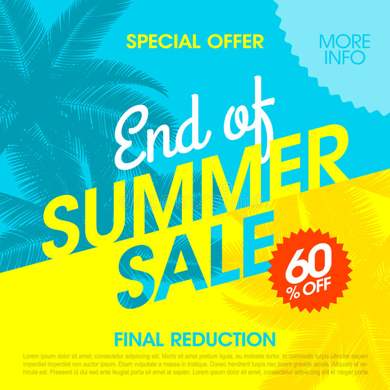 End Of Summer Sale banner stock illustration