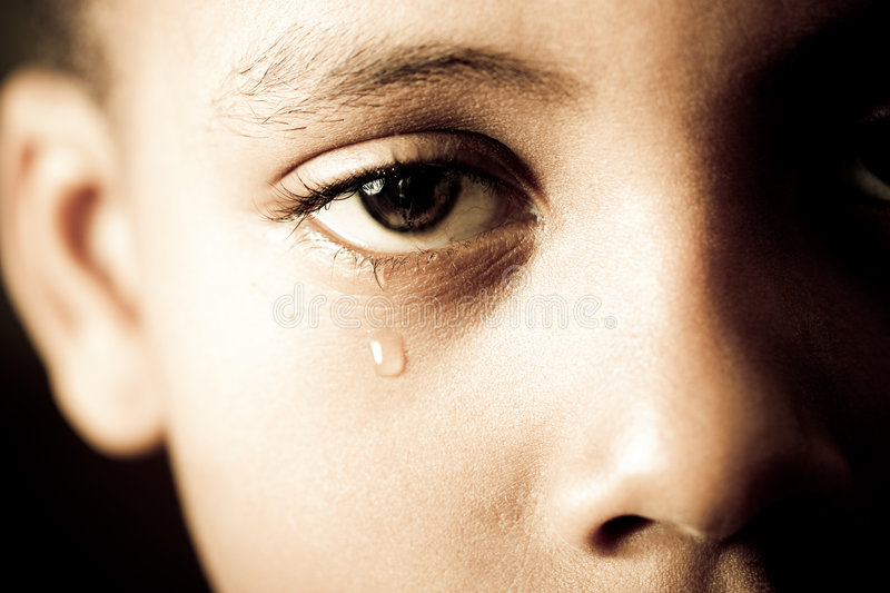End of tears stock photography