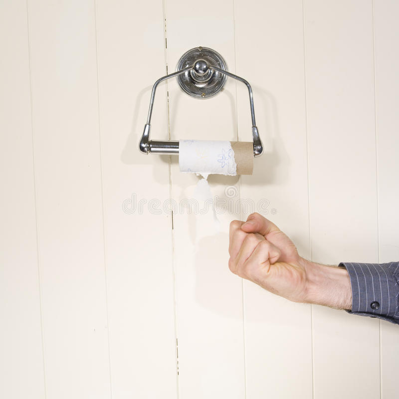 Download End of toilet roll stock photo. Image of anger, paper - 9841888