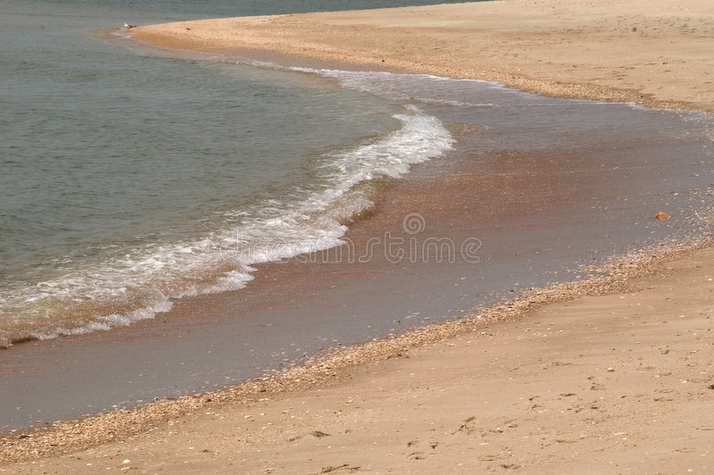 End of a Wave royalty free stock photo