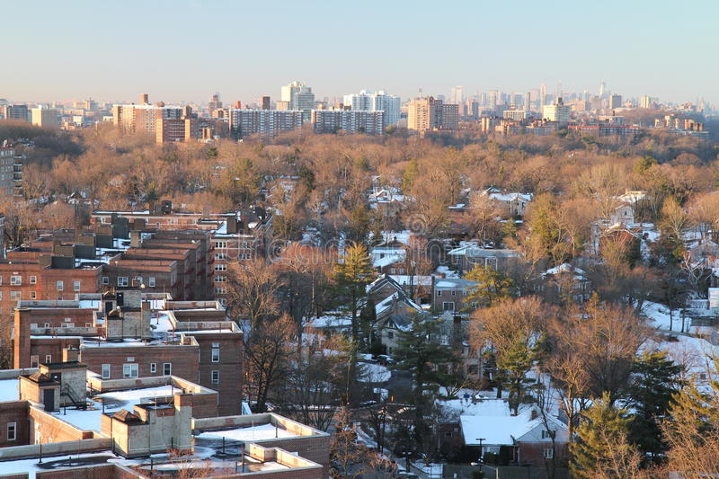 Bronx in winter royalty free stock photo