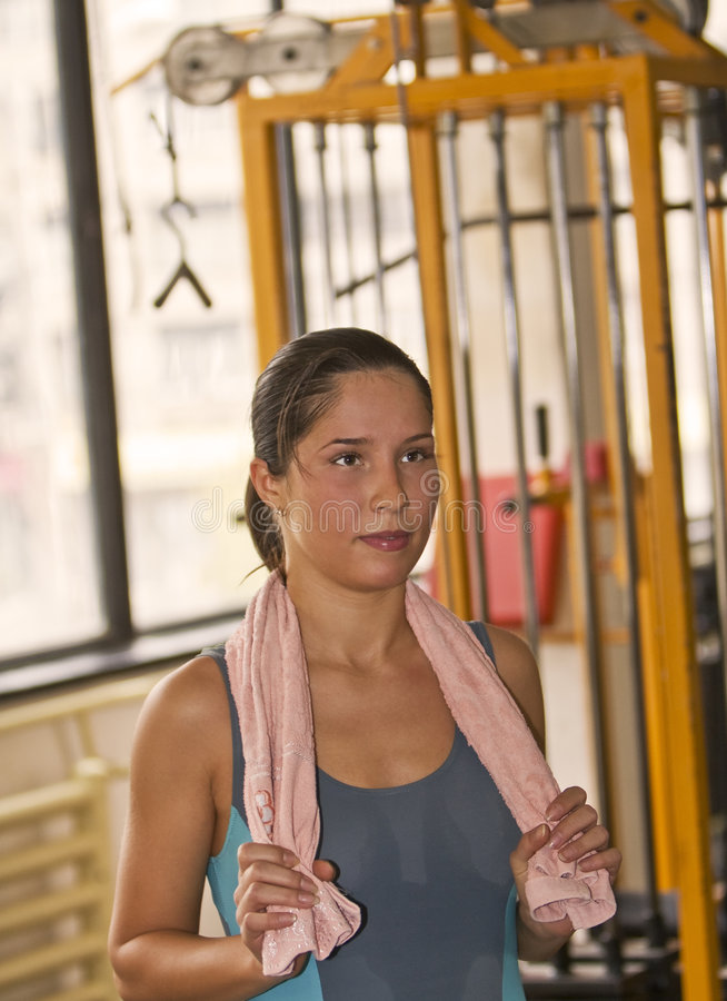 Download The end of workout session stock image. Image of brunette - 3483409