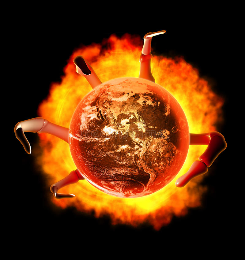 The end of the world royalty free stock photos
