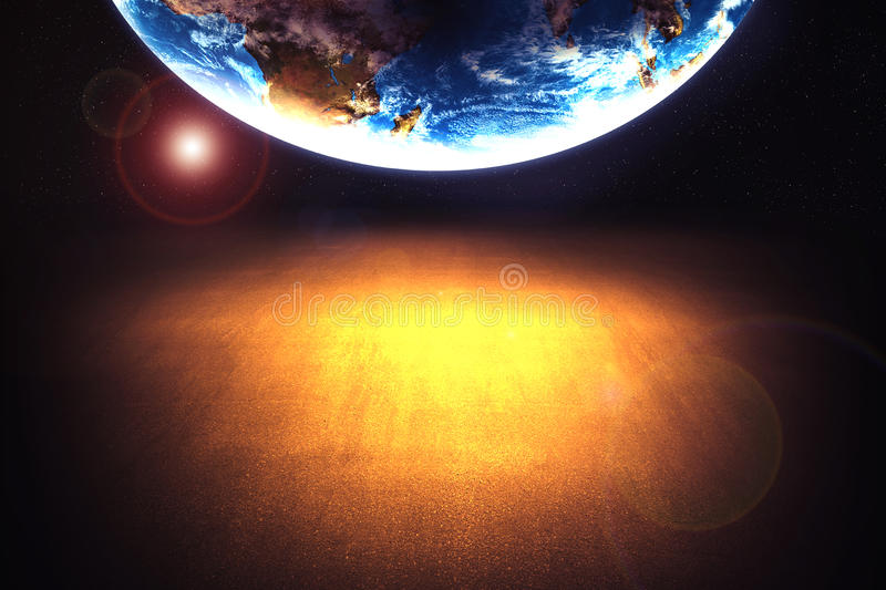 Download End of the world stock photo. Image of footprints, abstract - 35337768