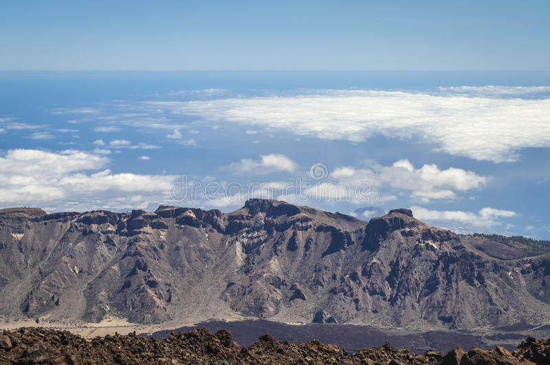 The end of the world. View fron Teide volcano on Tenerife. The end of the world. View fron Teide volcano stock photos