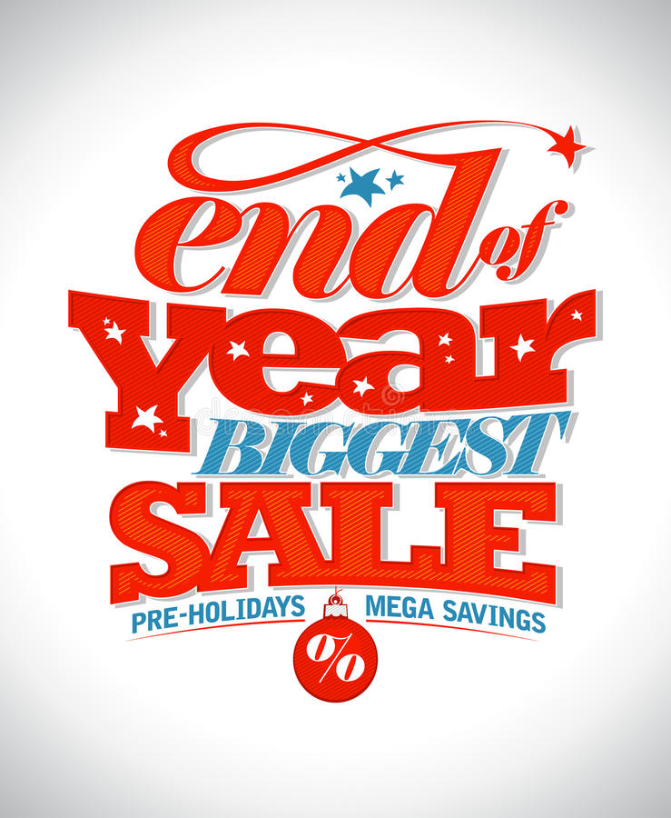 End of year biggest sale banner. royalty free illustration