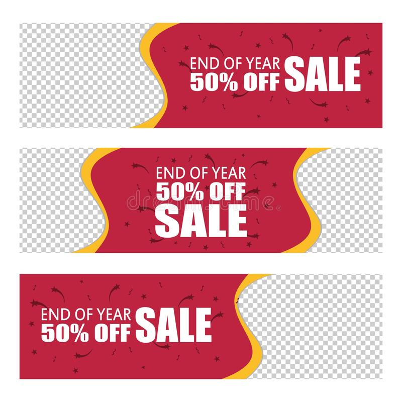 End year sale special offer price banner background vector illustration vector illustration