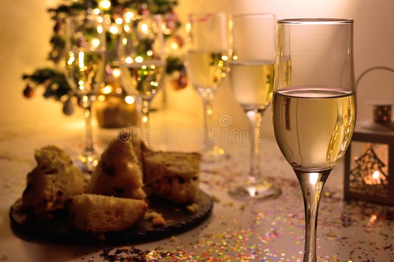 End of year toast royalty free stock photo