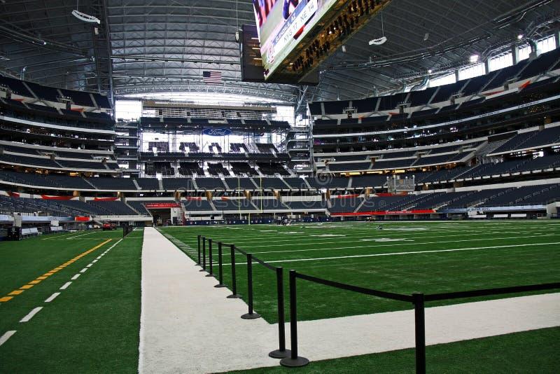 End zone super e campo da bacia do estádio dos cowboys fotos de stock