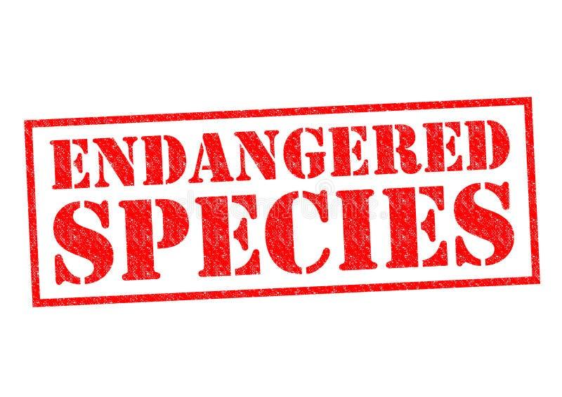 ENDANGERED SPECIES stock illustration