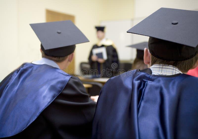 Ende der Ausbildung lizenzfreies stockbild