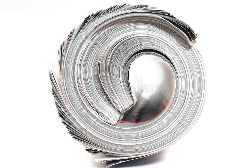 Download Ende Der Gerollten Zeitschriften Stockfoto - Bild: 2190884