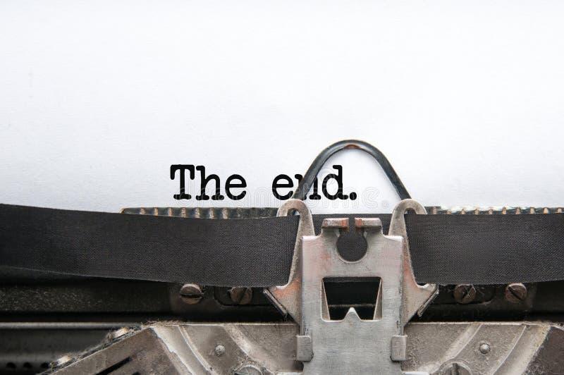Ende der Geschichte lizenzfreies stockbild